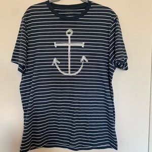 4/$25 J. Cree Graphic Tee Anchor Size Large